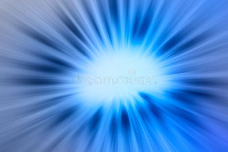 与发光的光芒的抽象蓝色背景 库存例证