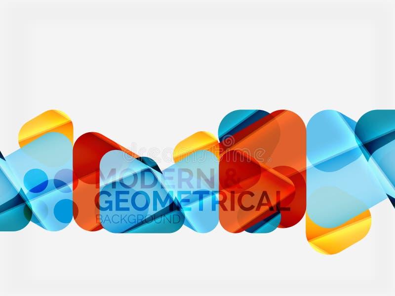 与发光的光滑的作用的现代五颜六色的几何三角与样品发短信 皇族释放例证