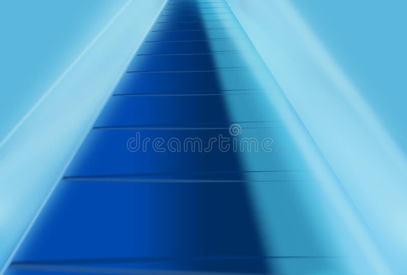 与发光的明亮的边缘概念系列的图解抽象背景 库存例证