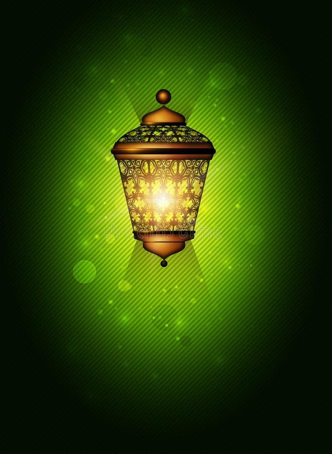 与发光的灯笼的圣诞节背景 库存例证