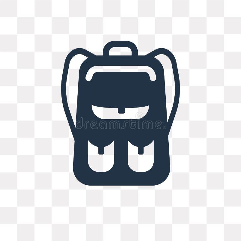 与口袋的书包导航在透明backgr隔绝的象 库存例证