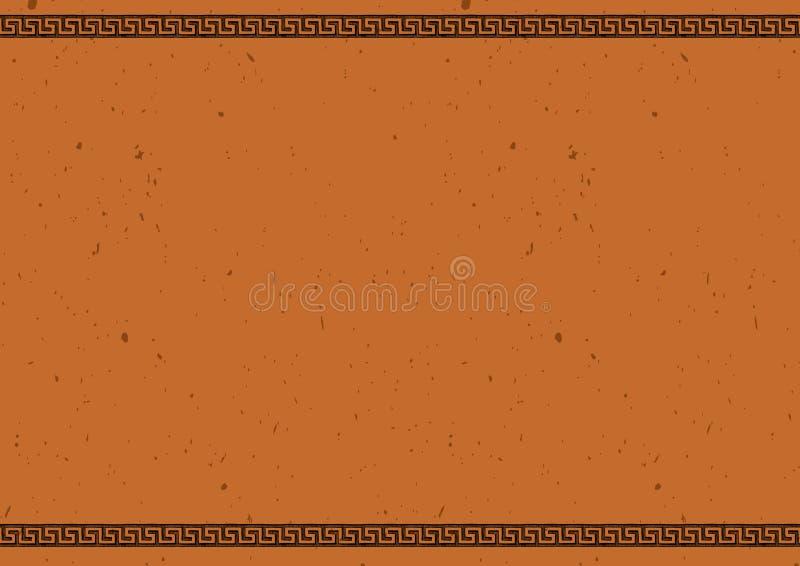 与古老希腊装饰品的模板 向量例证