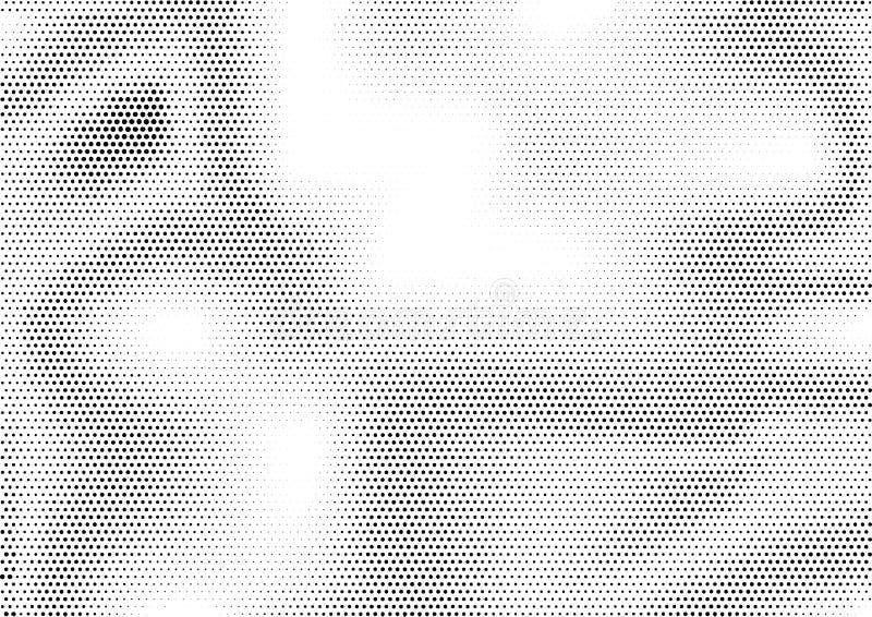 与另外大小参差不齐地积累小点的未来派抽象水平的半音背景  难看的东西梯度 向量例证
