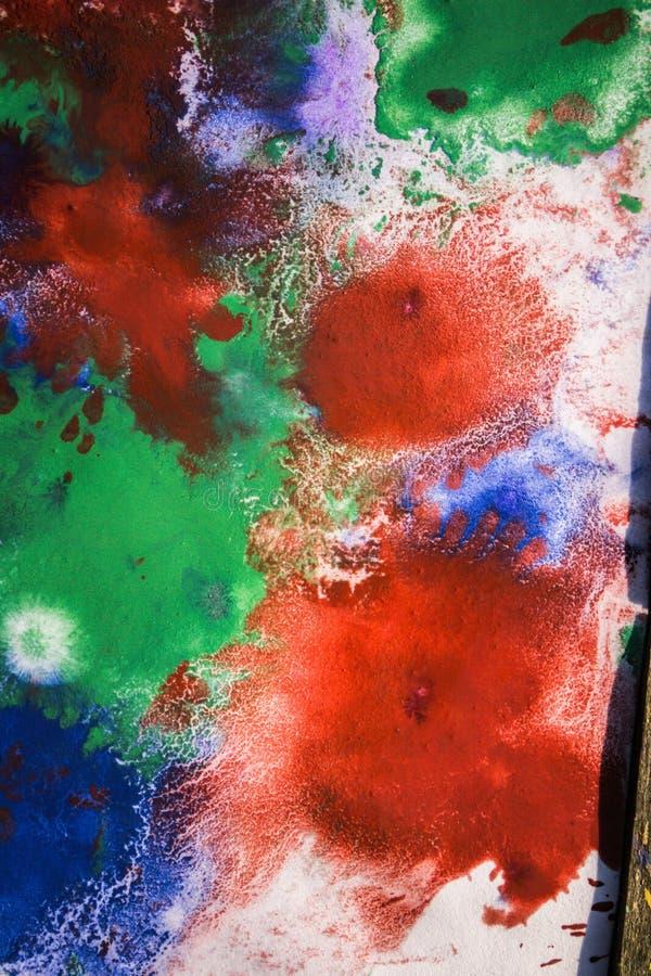 与另外颜色油漆条纹的下落是混杂的 向量例证
