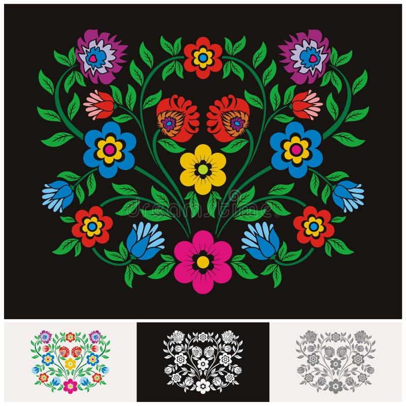 与可爱和可爱的设计的墨西哥种族花卉传染媒介 皇族释放例证