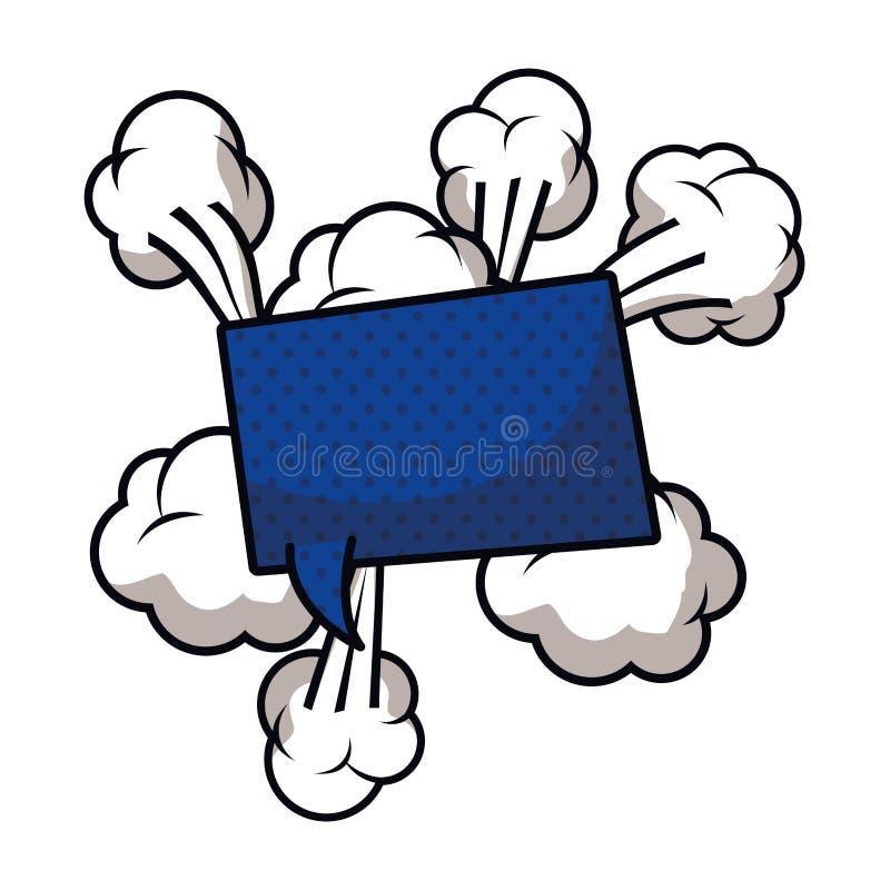 与可笑的被隔绝的象云彩的讲话泡影  库存例证