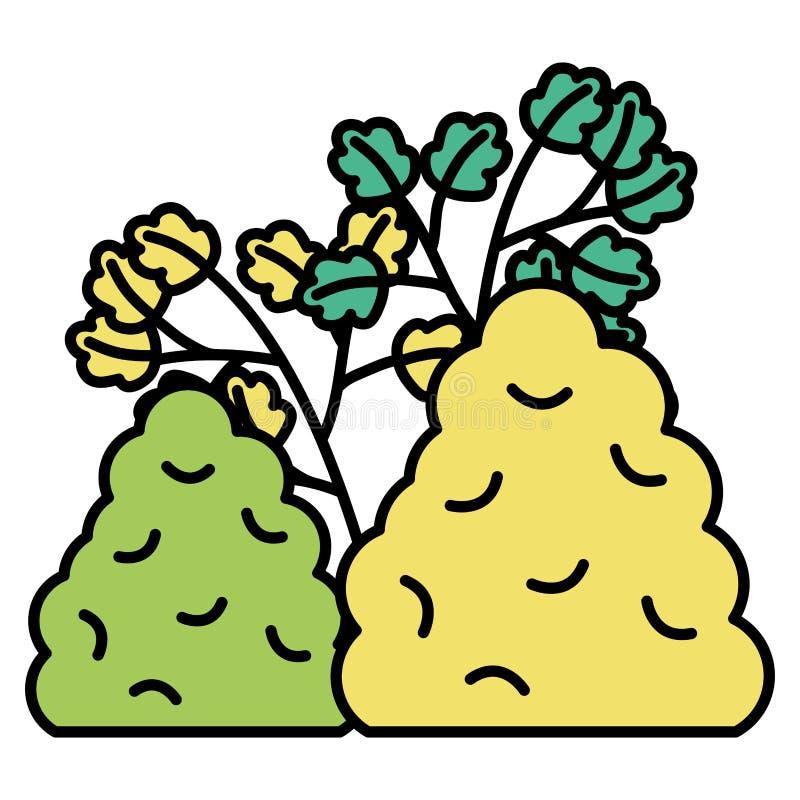 与叶子和灌木植物的分支 皇族释放例证