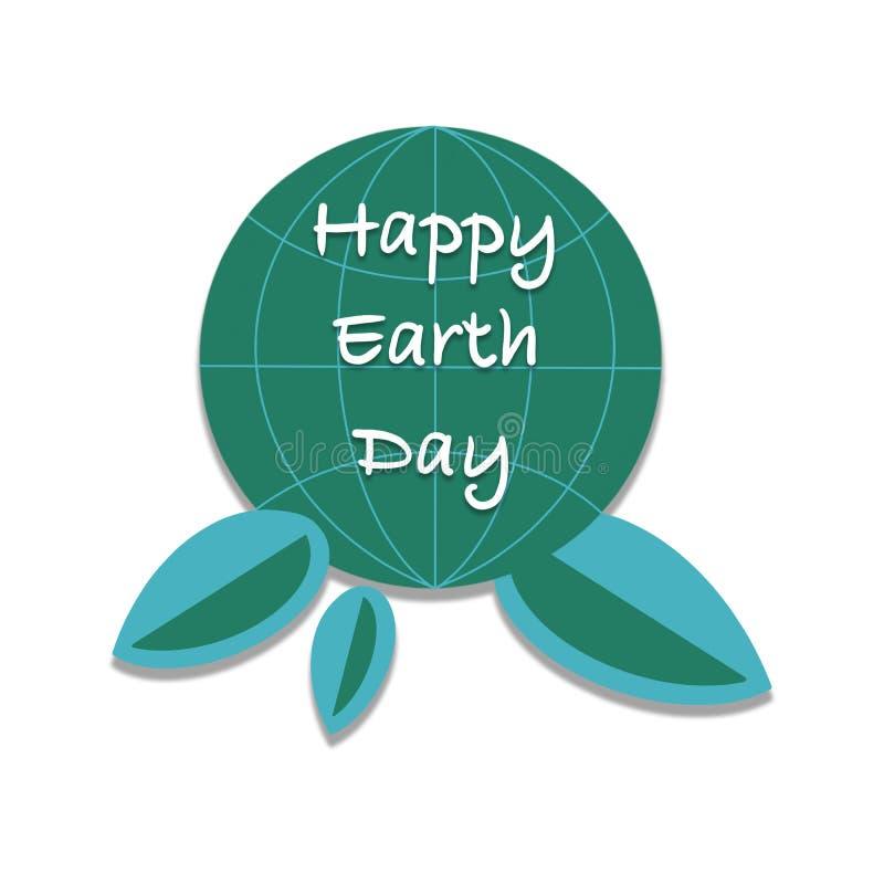 愉快的世界地球日手封缄信片,背景 皇族释放例证