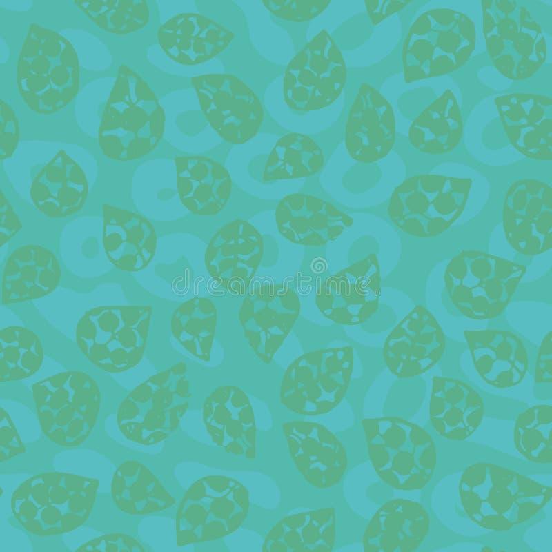 与叶子形状的无缝的传染媒介样式在tel构造了背景 向量例证