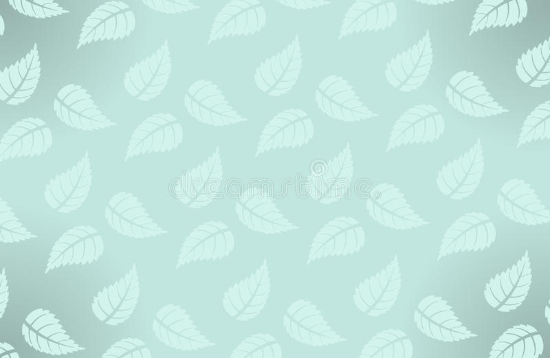 与叶子的传染媒介简单的夏威夷样式 向量例证