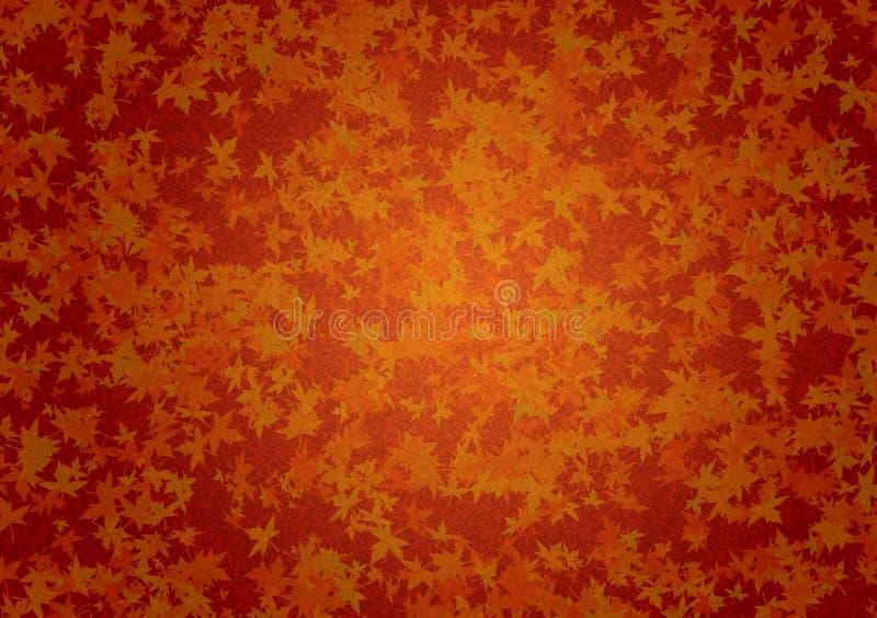 与叶子的布朗秋天织地不很细背景 免版税库存照片