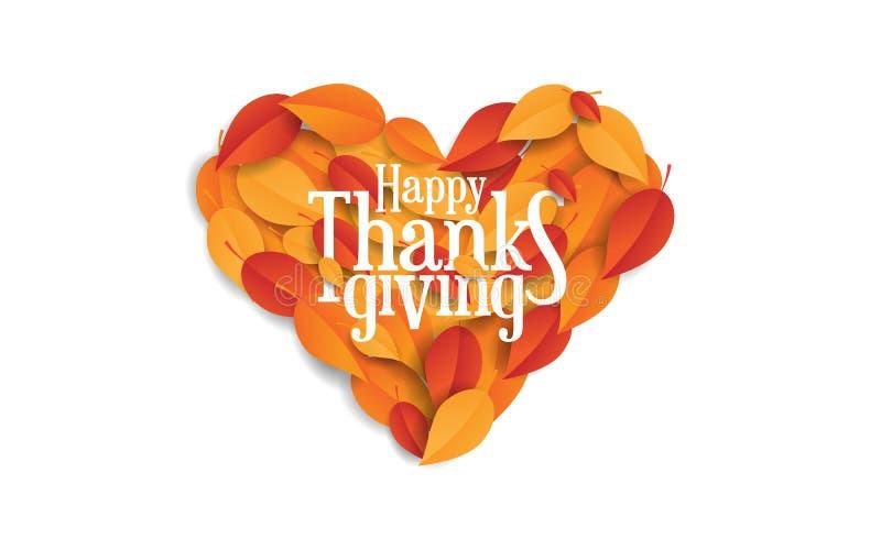 与叶子的愉快的感恩概念 库存照片