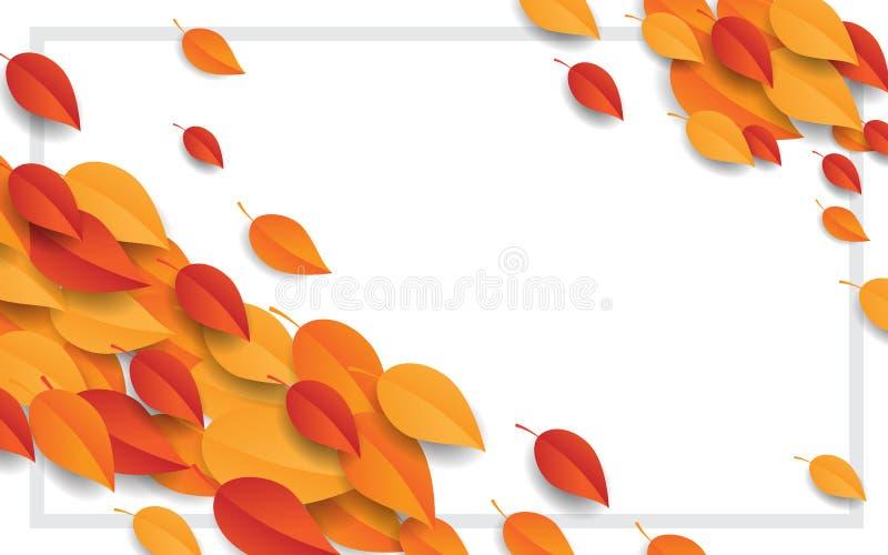 与叶子的愉快的感恩概念 库存图片