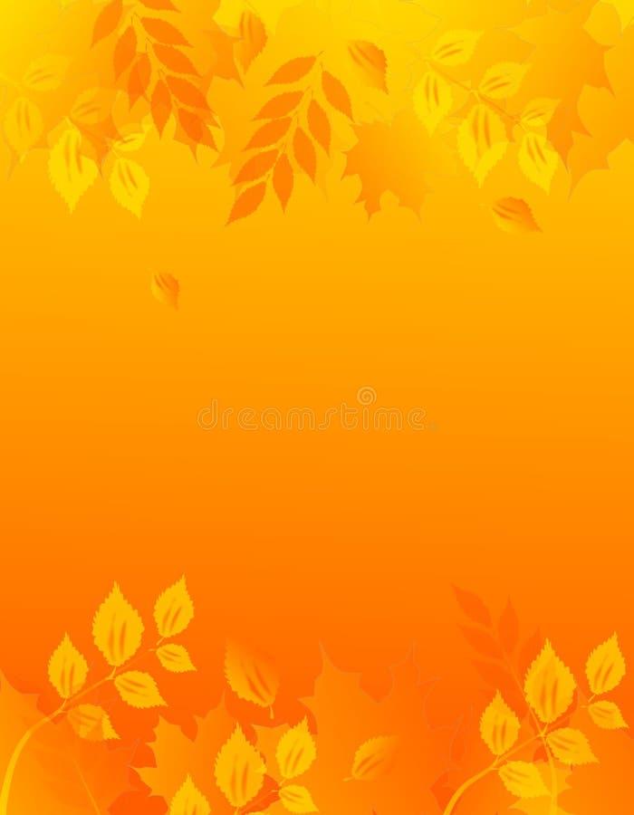 与叶子的秋天背景 库存例证