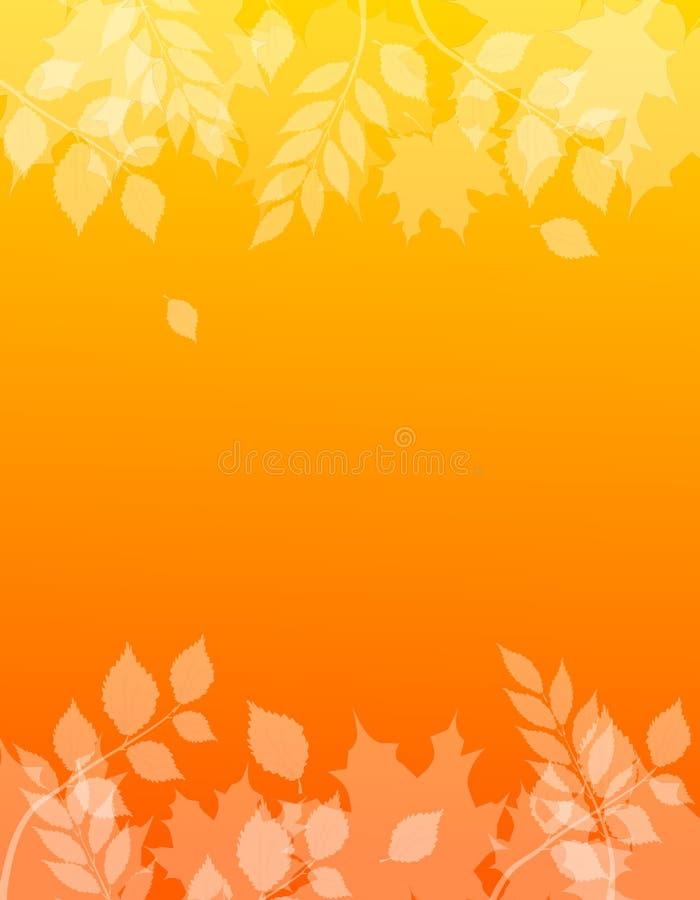 与叶子的秋天背景 向量例证