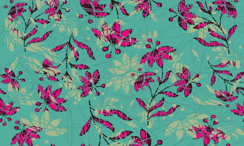 与各种各样的样式的印度尼西亚蜡染布设计 皇族释放例证