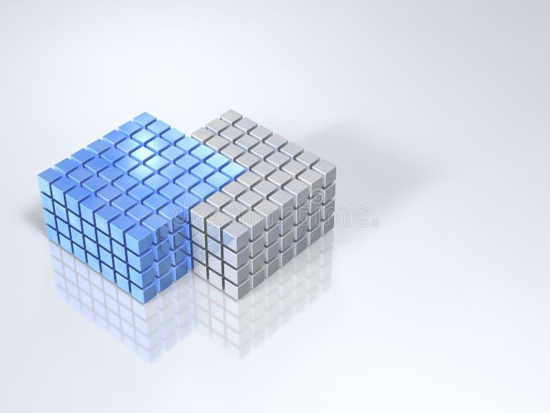 与同化的界限的两个小组接触和 库存例证