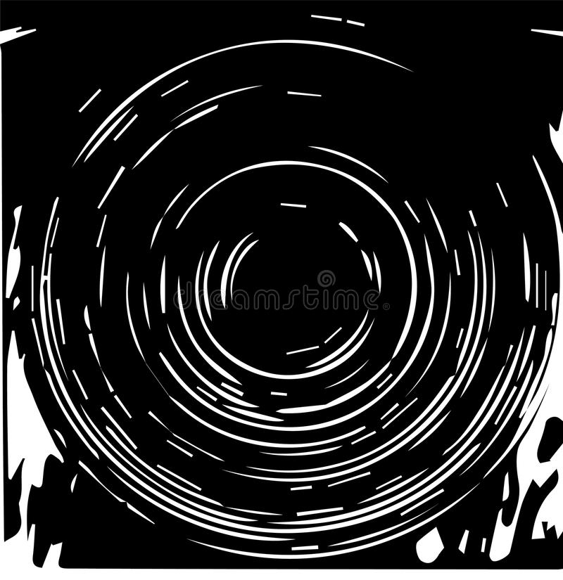 与同心圆的几何样式,设计的,背景,背景元素 黑白颜色传染媒介例证 向量例证