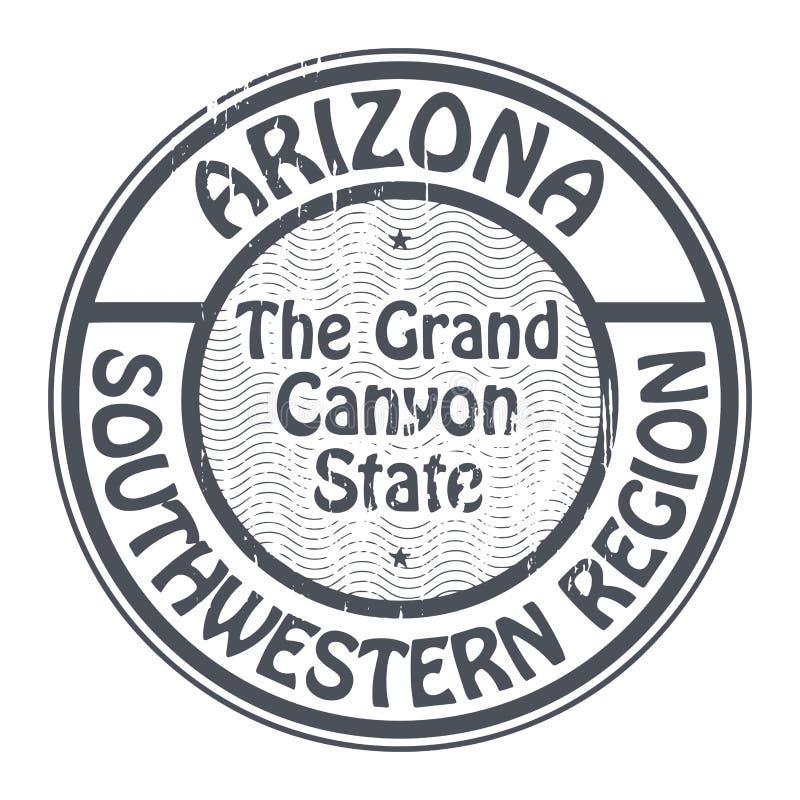 与名字亚利桑那,西南地区的邮票 皇族释放例证