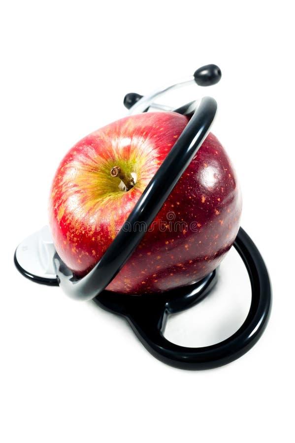 一个苹果每天保持医生去 库存照片