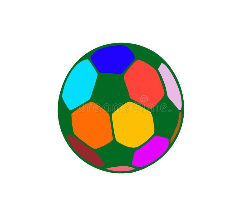 与和平颜色的橄榄球足球 库存图片
