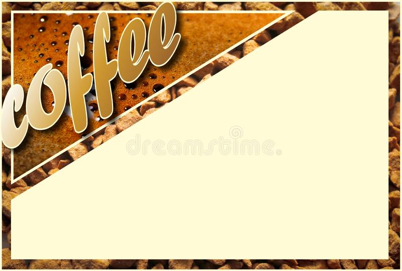与咖啡细节的拼贴画 库存例证
