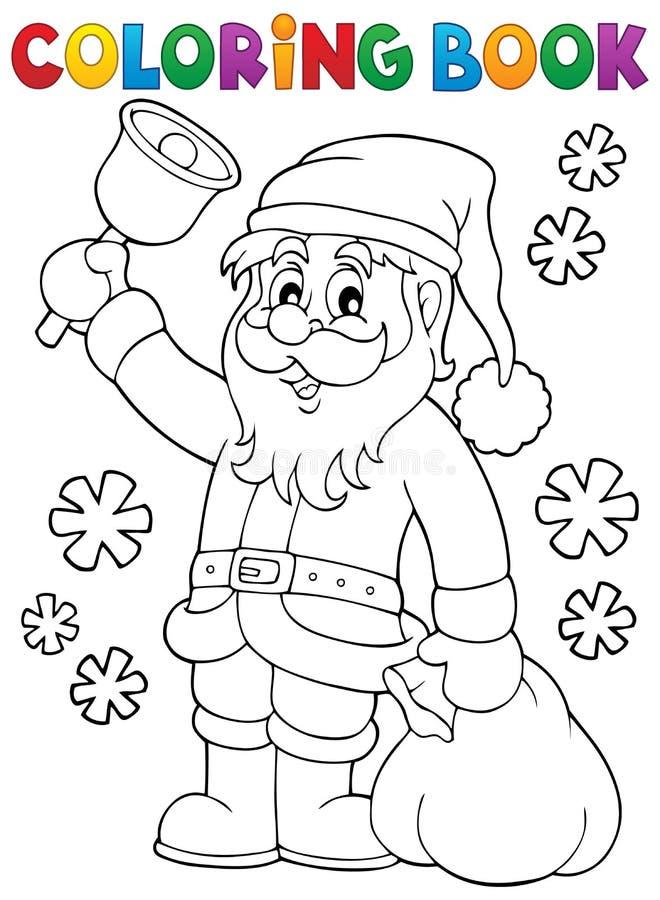 与响铃的彩图圣诞老人 皇族释放例证