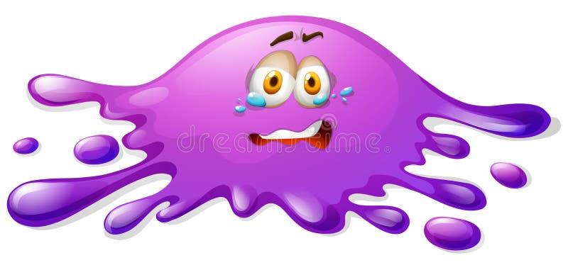 与哭泣的面孔的紫色软泥 皇族释放例证