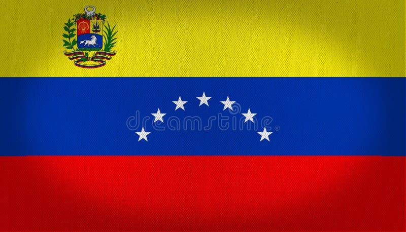 与商标的委内瑞拉旗子 向量例证