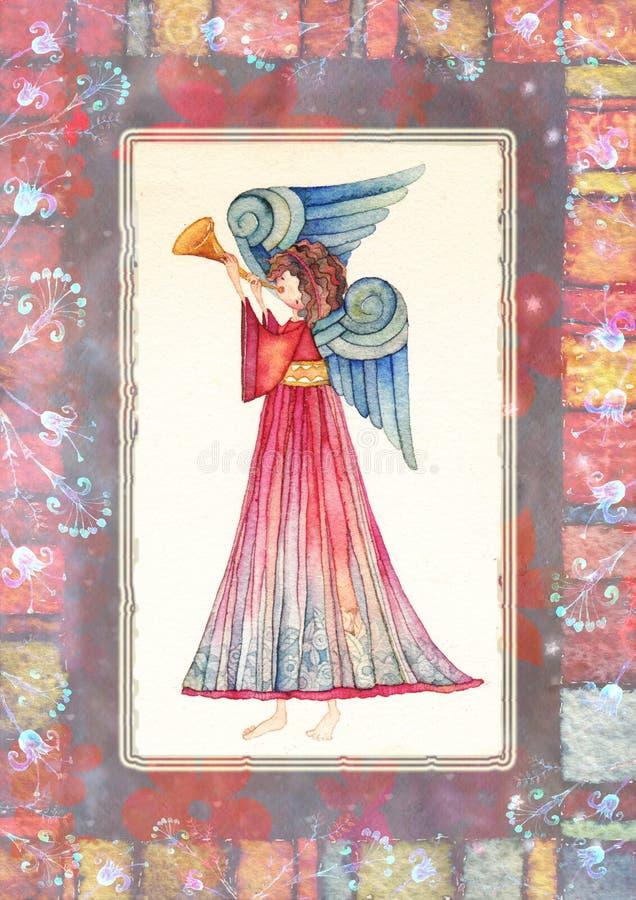 Download 与喇叭的天使 库存例证. 插画 包括有 霍莉, 航空, 关心, 重点, 天使, 圣诞节, 宝石, 庆祝, 节假日 - 62529058