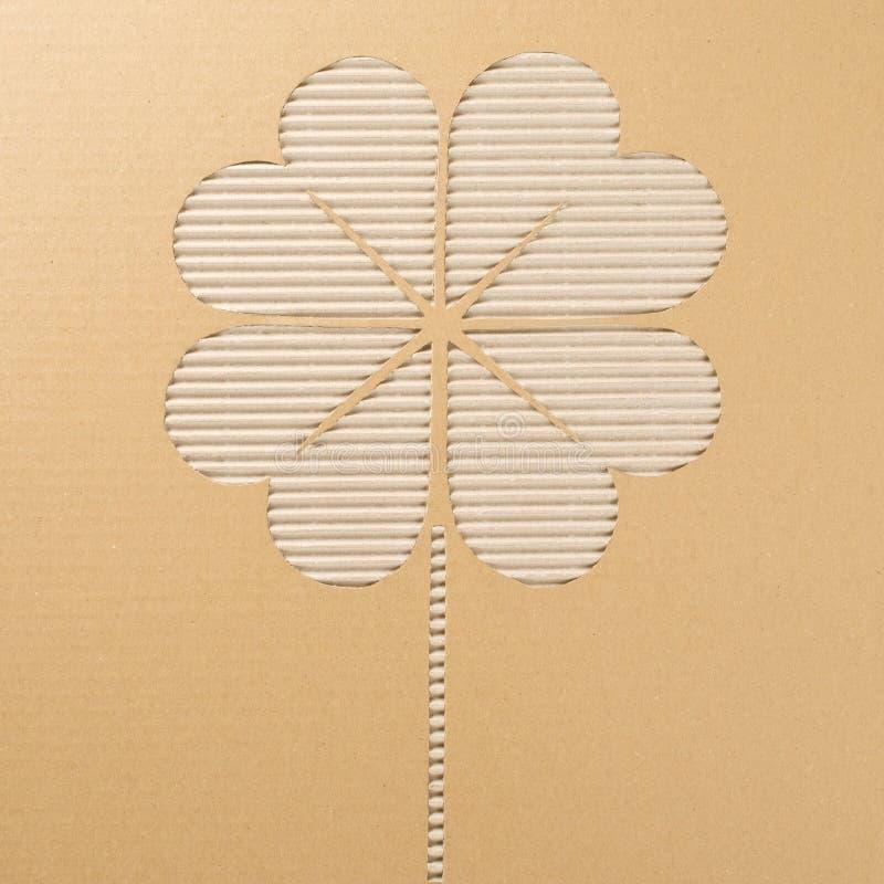 与四片叶子的三叶草 免版税图库摄影