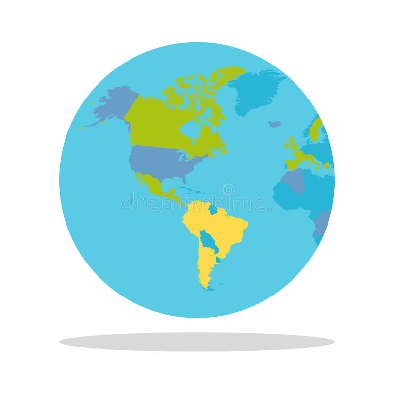 与国家传染媒介例证的行星地球 皇族释放例证