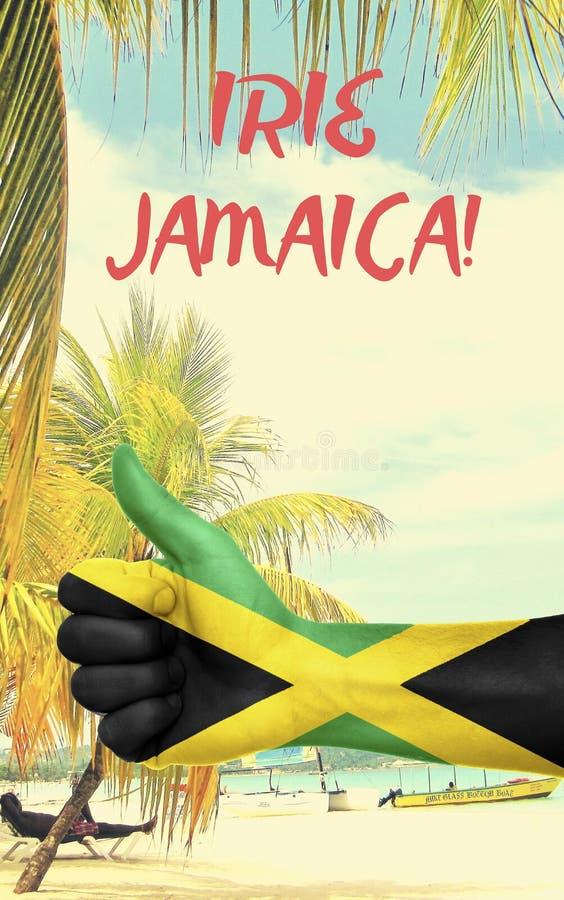 与国旗的牙买加图表 免版税库存图片