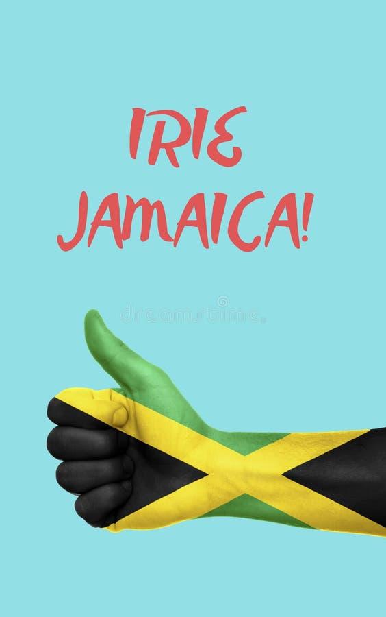 与国旗的牙买加图表 库存图片