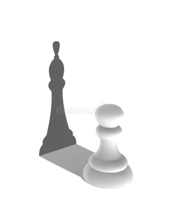 与国王阴影的白色典当 库存例证