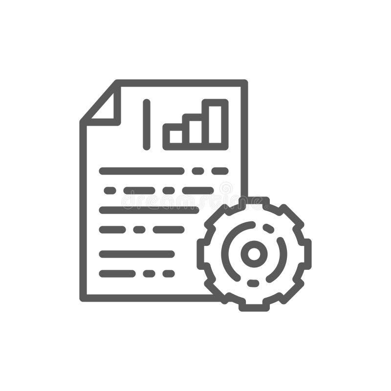 与图和链轮,项目计划线象的工程学文件 皇族释放例证
