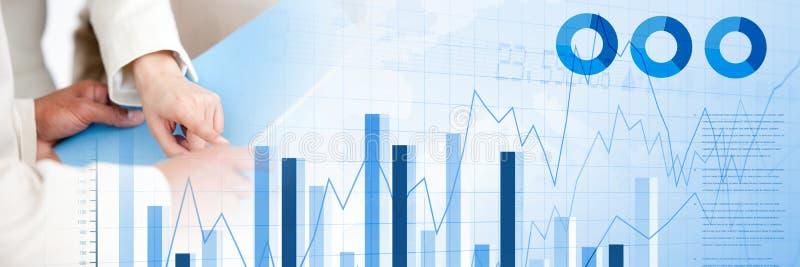与图和统计转折的人签署的纸协议 向量例证