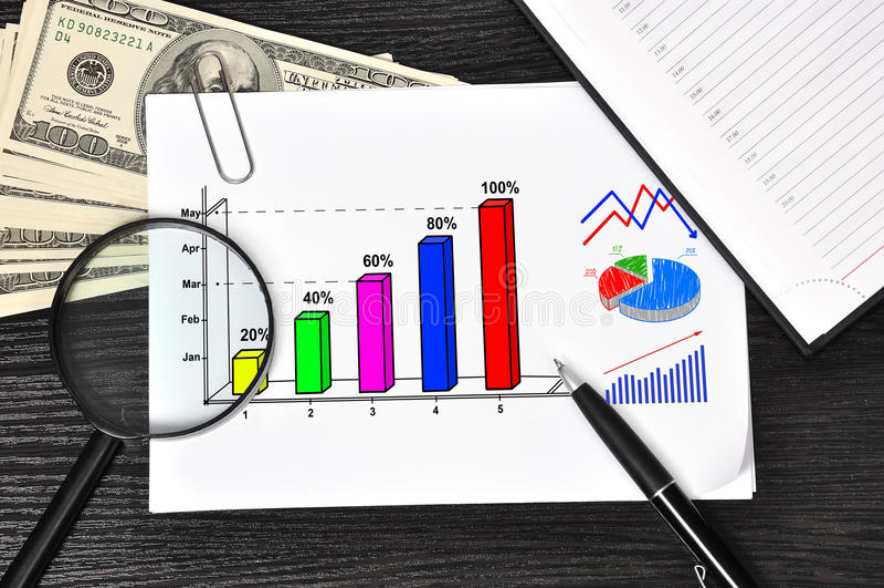 Download 与图的纸 库存图片. 图片 包括有 营销, 美元, 投资, 图画, 想法, 箭头, 增长, 商业, 图表 - 30325863