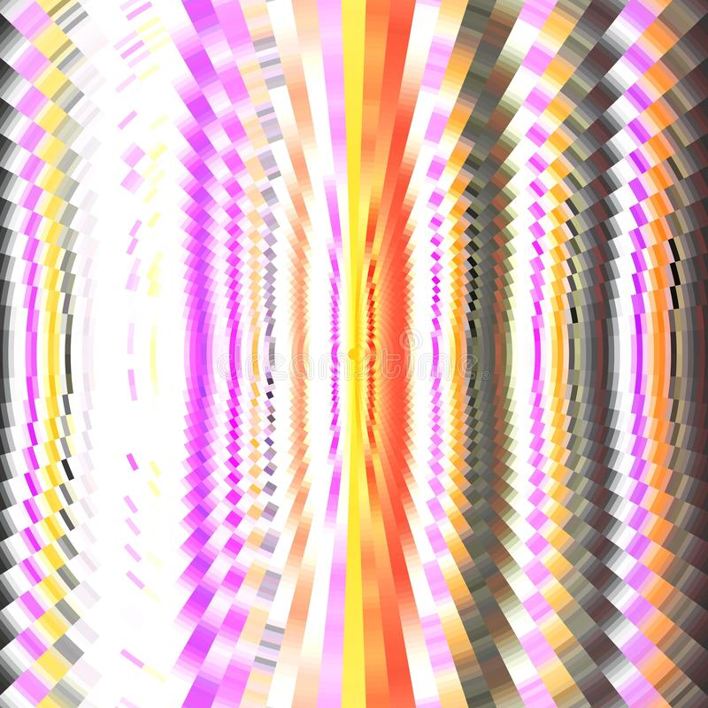 与圆波浪的五颜六色的背景 象素映象 库存例证