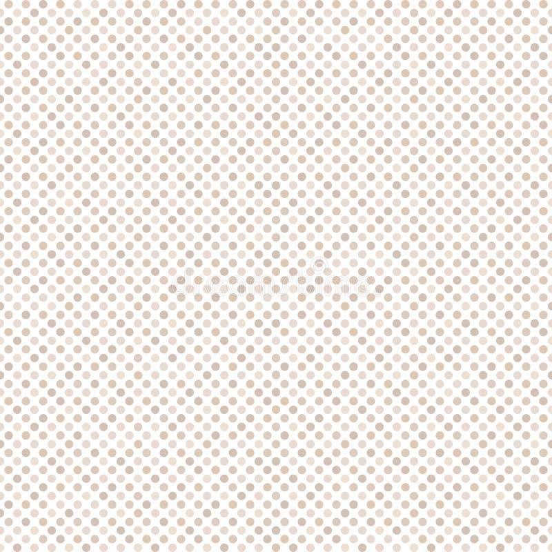 与圆点的无缝的几何样式在白色背景 库存例证