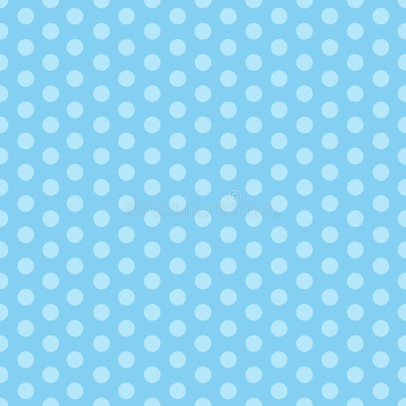 与圆点的蓝色无缝的样式 r : 皇族释放例证