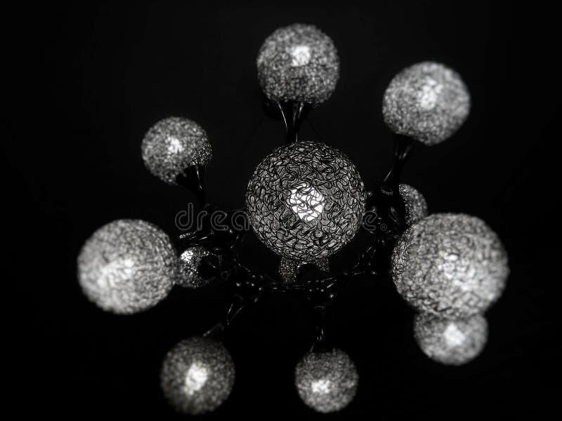 与圆的元素的分子设计 免版税库存图片