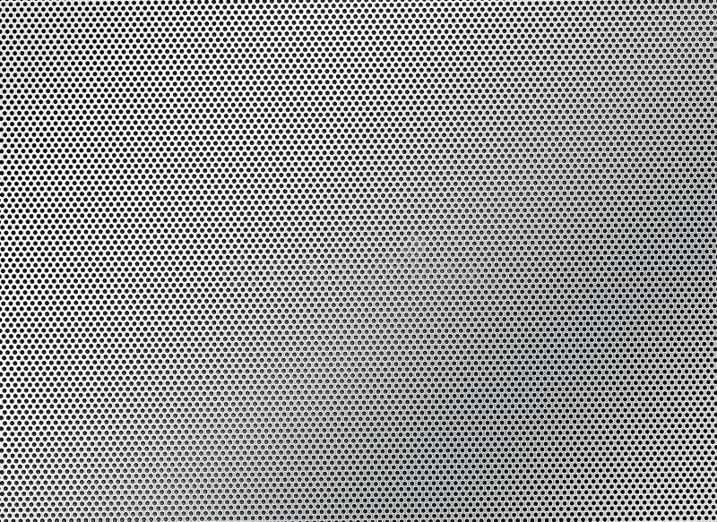 与圆的孔特写镜头的钢滤网 库存照片