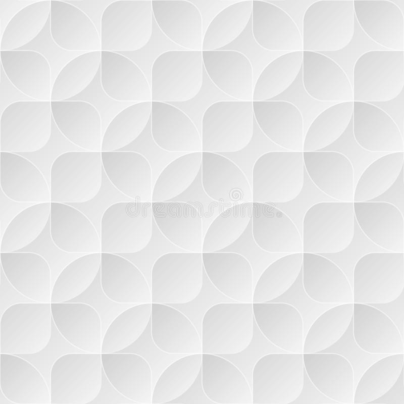 与圈子和正方形的浅灰色的无缝的传染媒介背景 皇族释放例证