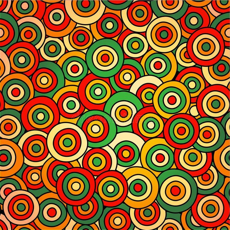 与圈子的传染媒介抽象无缝的样式 库存例证