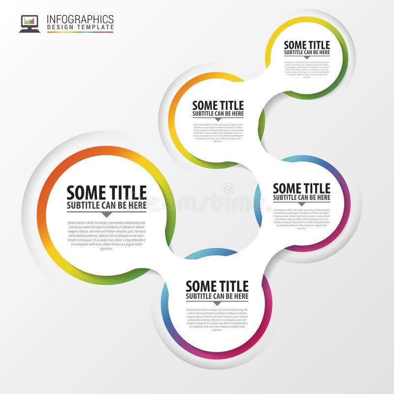 与圈子的抽象infographics设计模板 向量 皇族释放例证