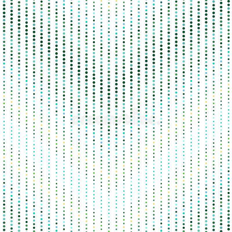 与圈子的无缝的几何五颜六色的样式 皇族释放例证