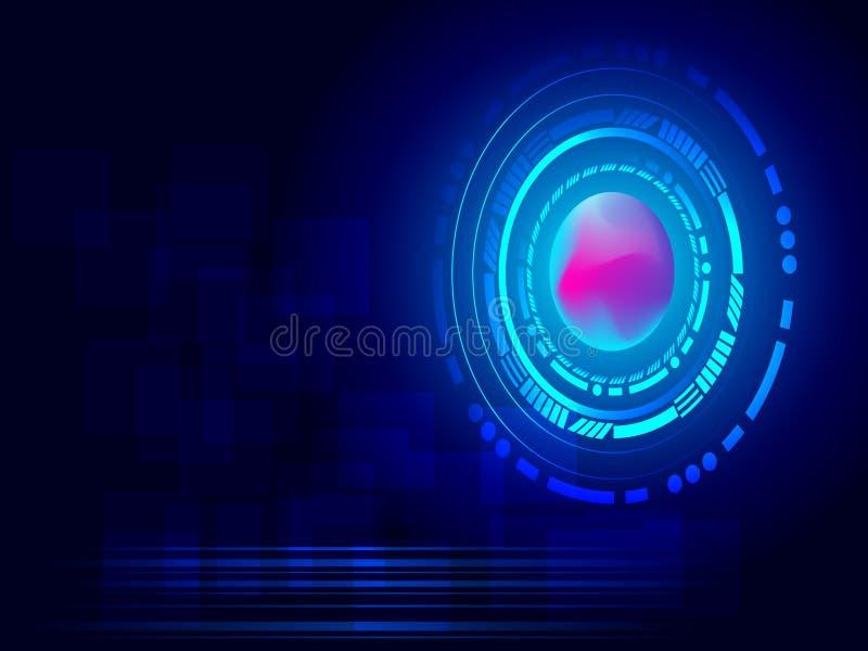 与圈子的未来派抽象技术背景 传染媒介d 皇族释放例证