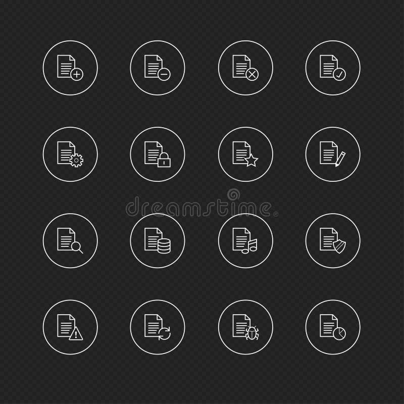 与圈子的稀薄的线象网的&机动性# 28归档和文件 库存例证
