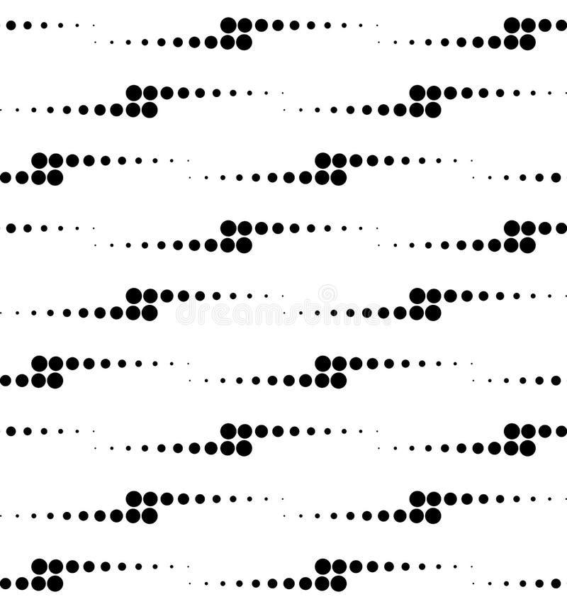 与圈子的黑白几何无缝的样式,抽象 皇族释放例证